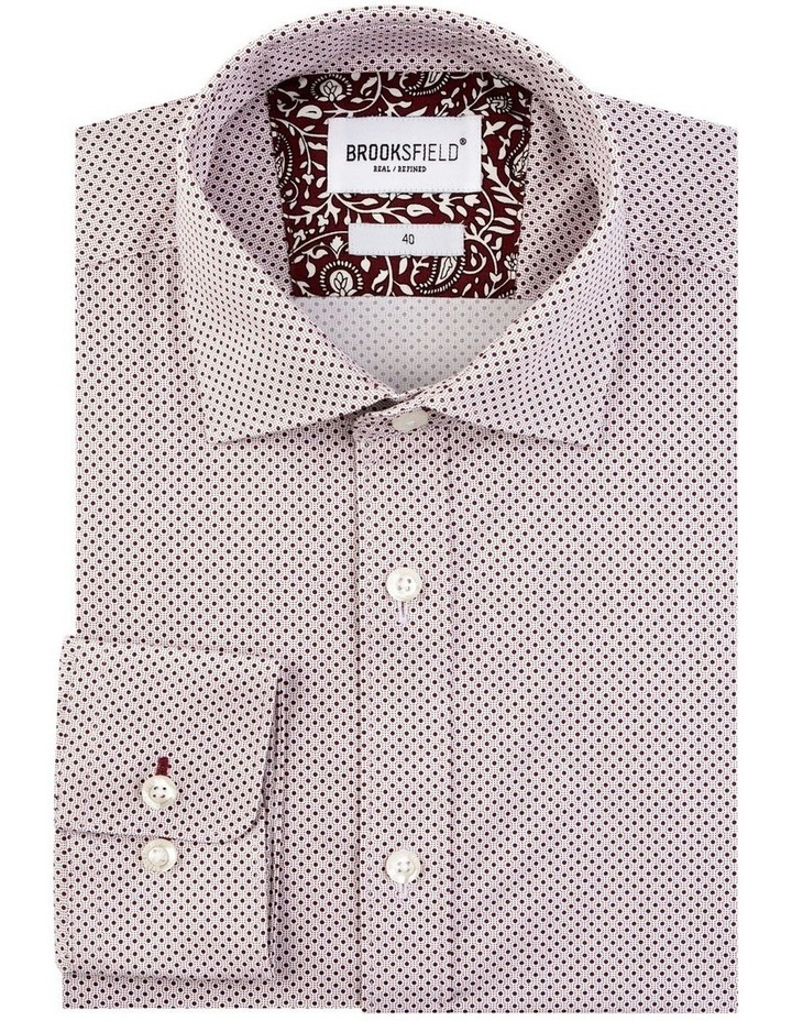 Stretch Intricate Dot Print Business Shirt image 4
