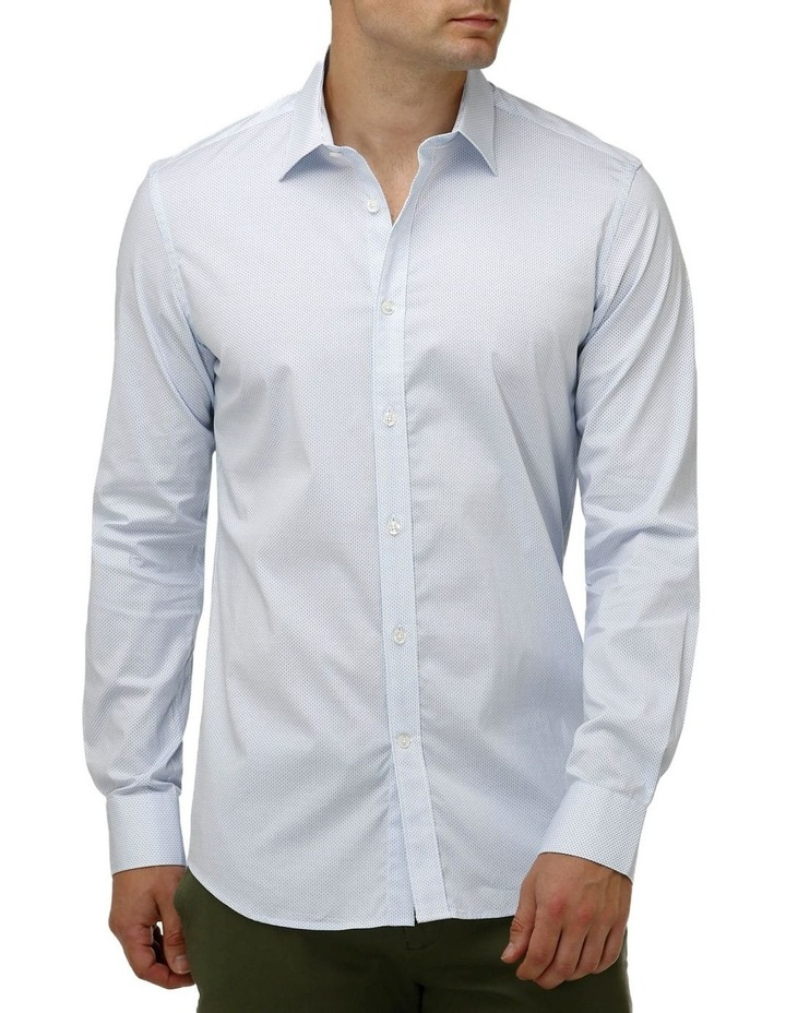 Stretch Double Dot Print Business Shirt image 1