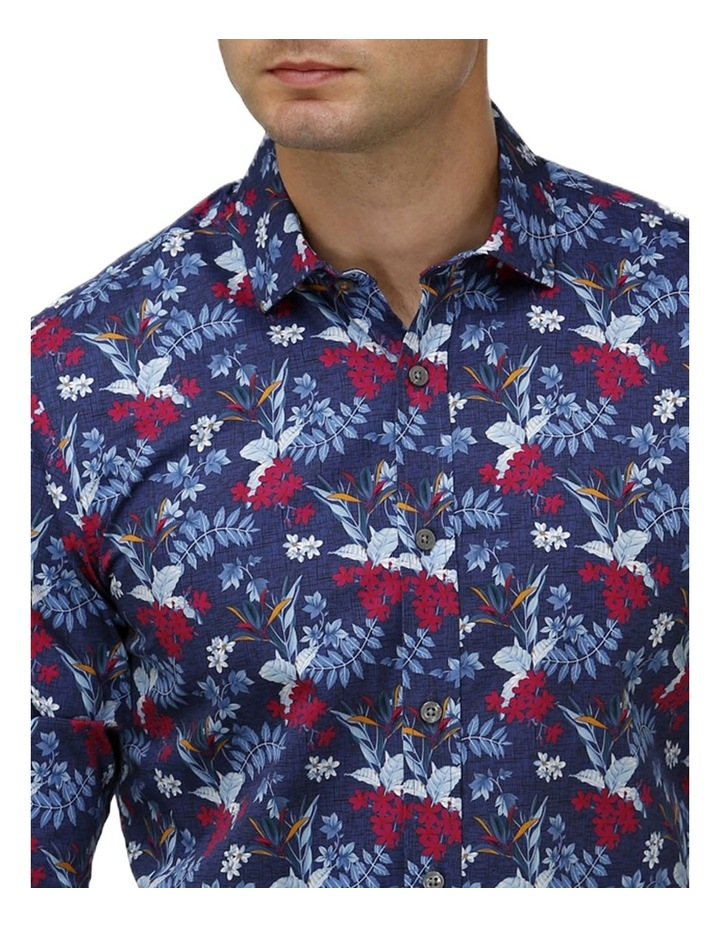 Hawaiian Print Satin Business Shirt image 2