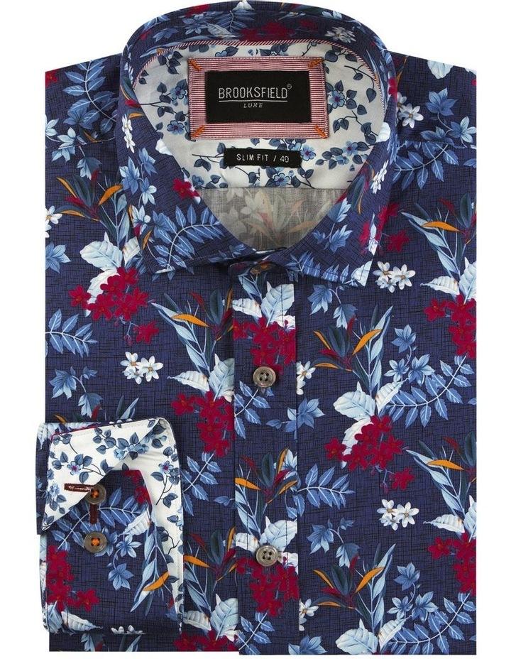 Hawaiian Print Satin Business Shirt image 4