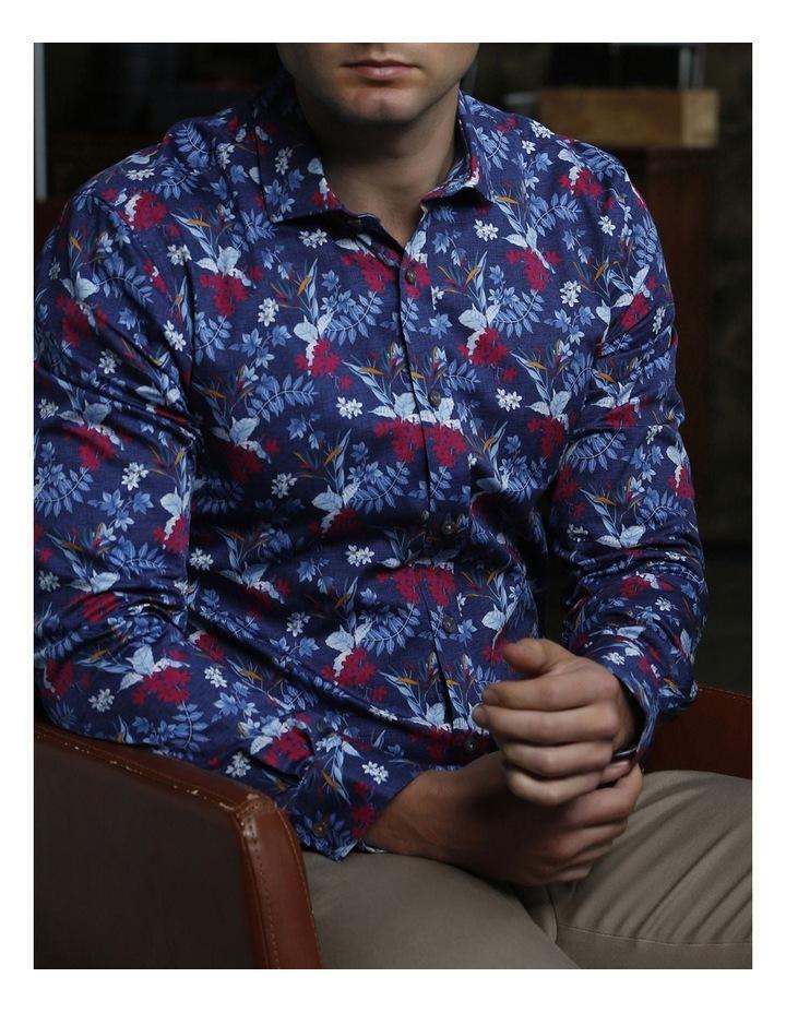 Hawaiian Print Satin Business Shirt image 5