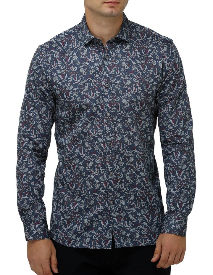 Paisley Print Satin Business Shirt image 1