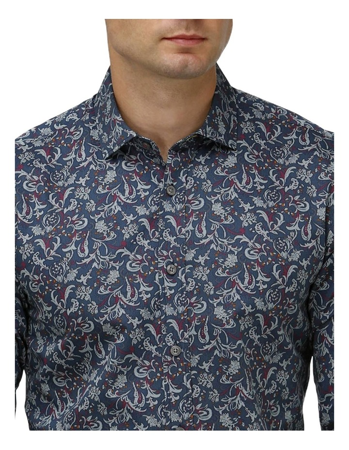Paisley Print Satin Business Shirt image 2