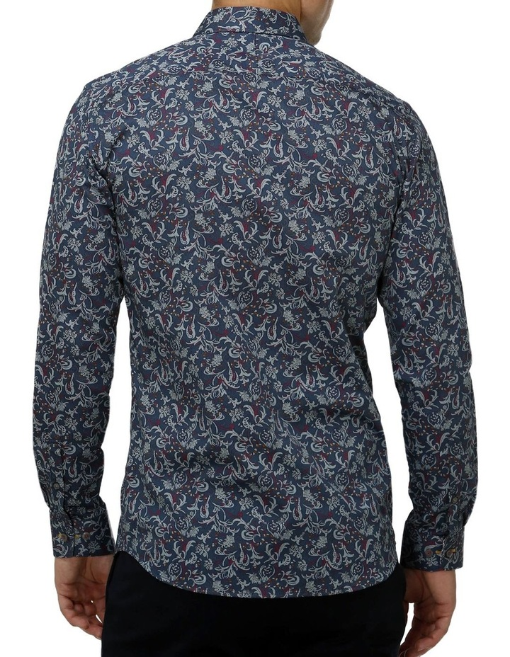 Paisley Print Satin Business Shirt image 3