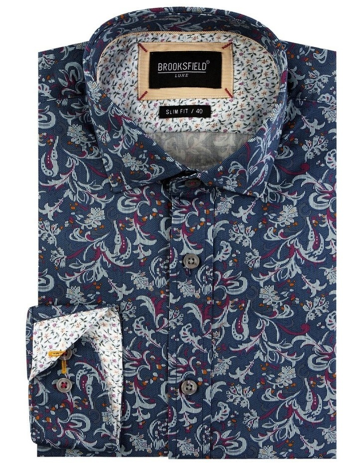 Paisley Print Satin Business Shirt image 4
