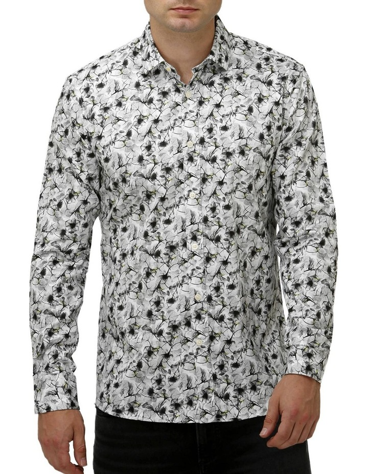 Modern Floral Print Satin Business Shirt image 1