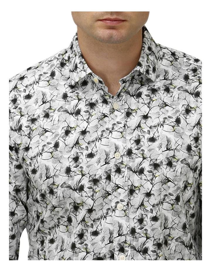 Modern Floral Print Satin Business Shirt image 2