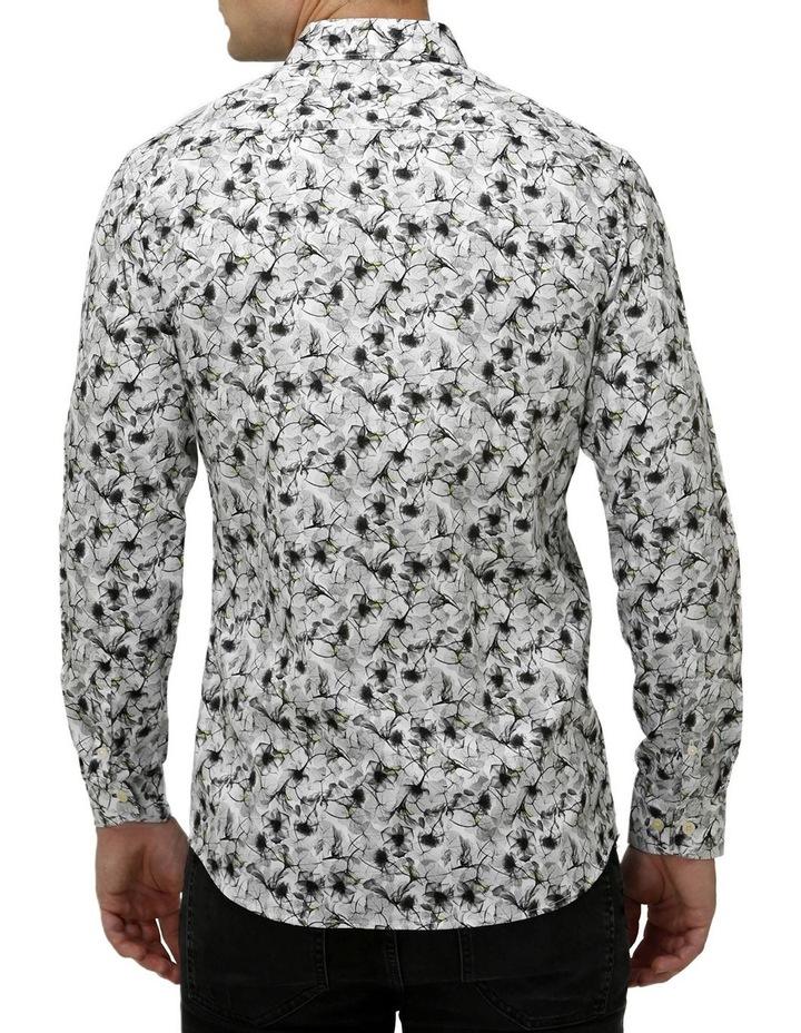 Modern Floral Print Satin Business Shirt image 3