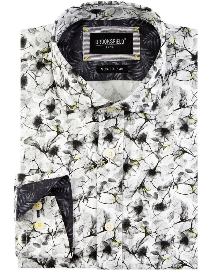Modern Floral Print Satin Business Shirt image 4