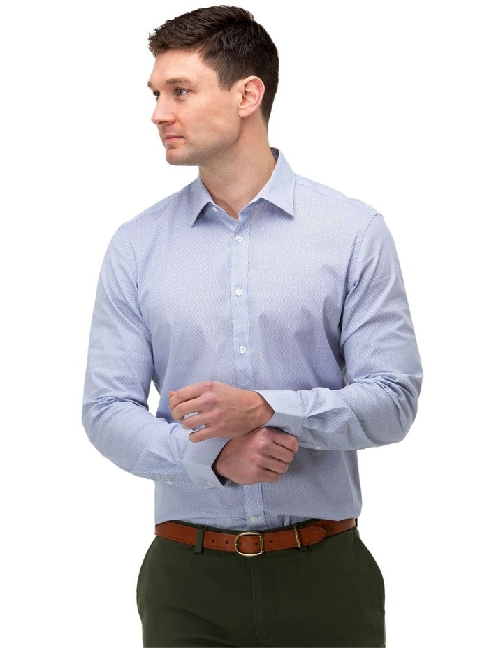 Micro Print Reg Fit Business Shirt image 1