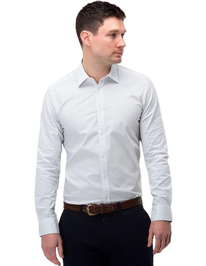 Micro Print Reg Fit Business Shirt image 1