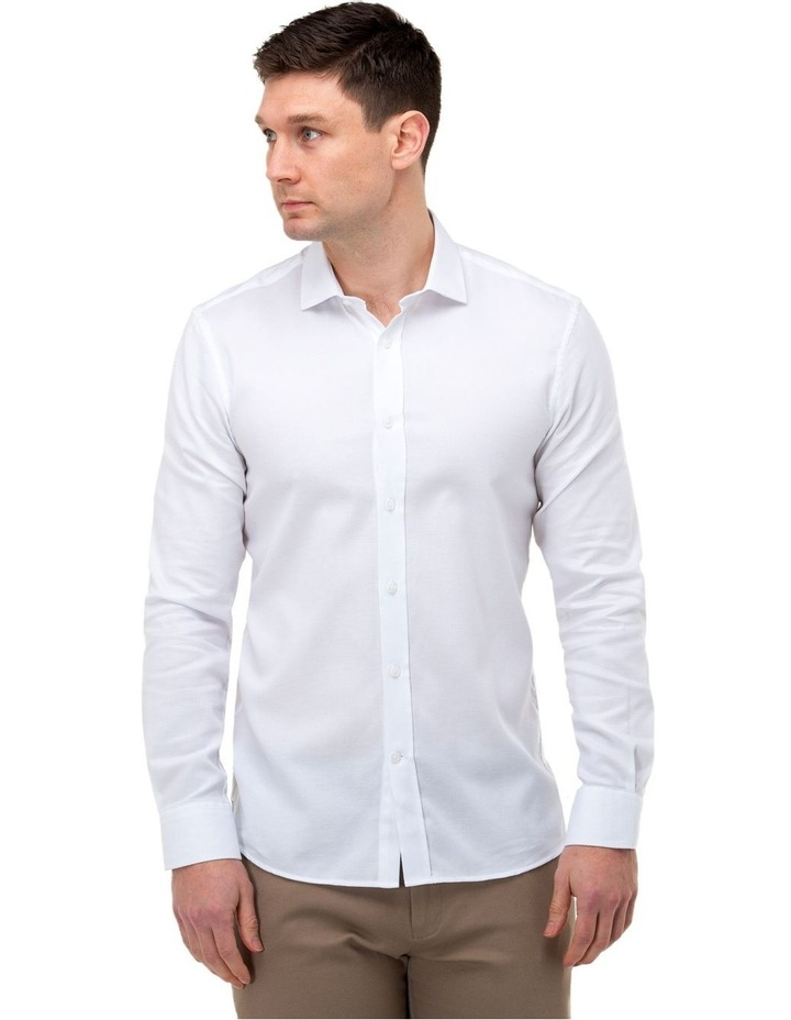 Textured Weave Slim Fit Dress Shirt image 1