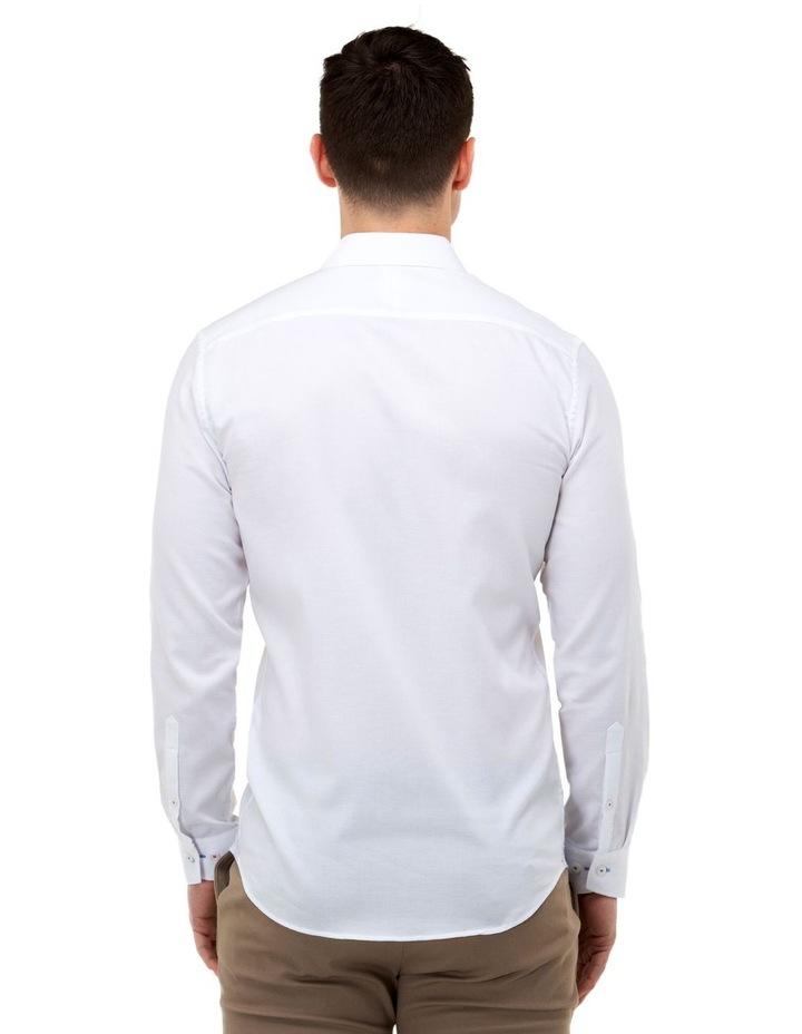 Textured Weave Slim Fit Dress Shirt image 3