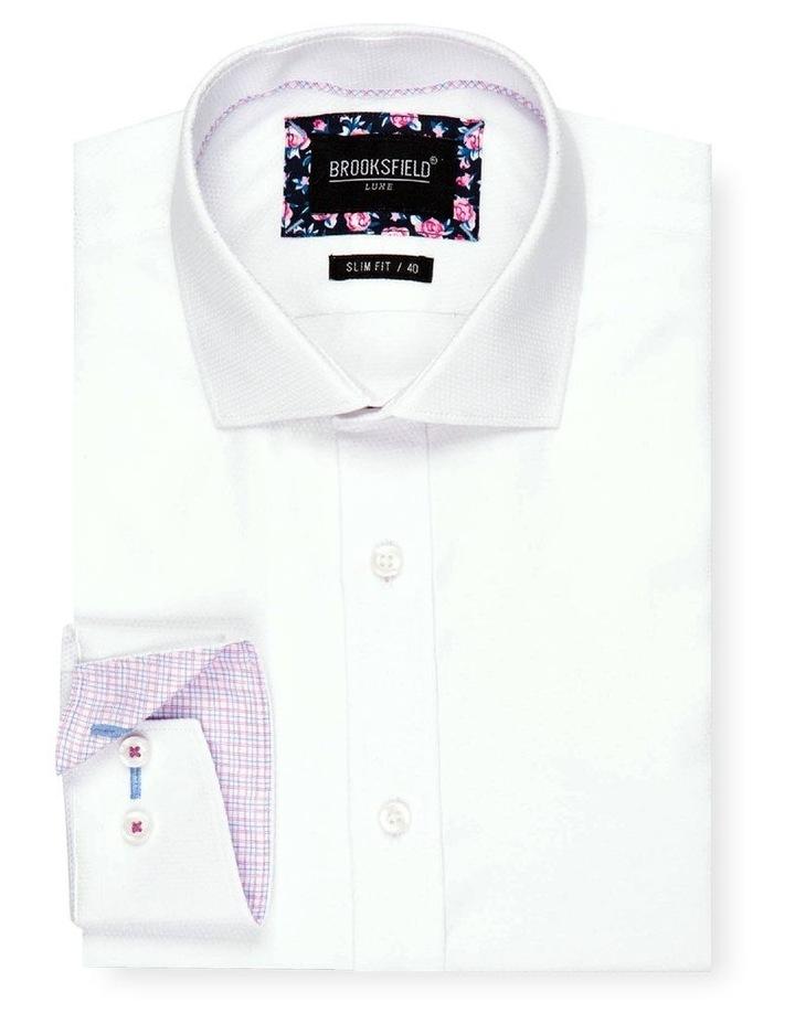 Textured Weave Slim Fit Dress Shirt image 4