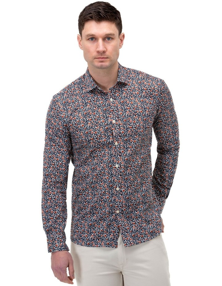 Floral Print Slim Fit Dress Shirt image 1