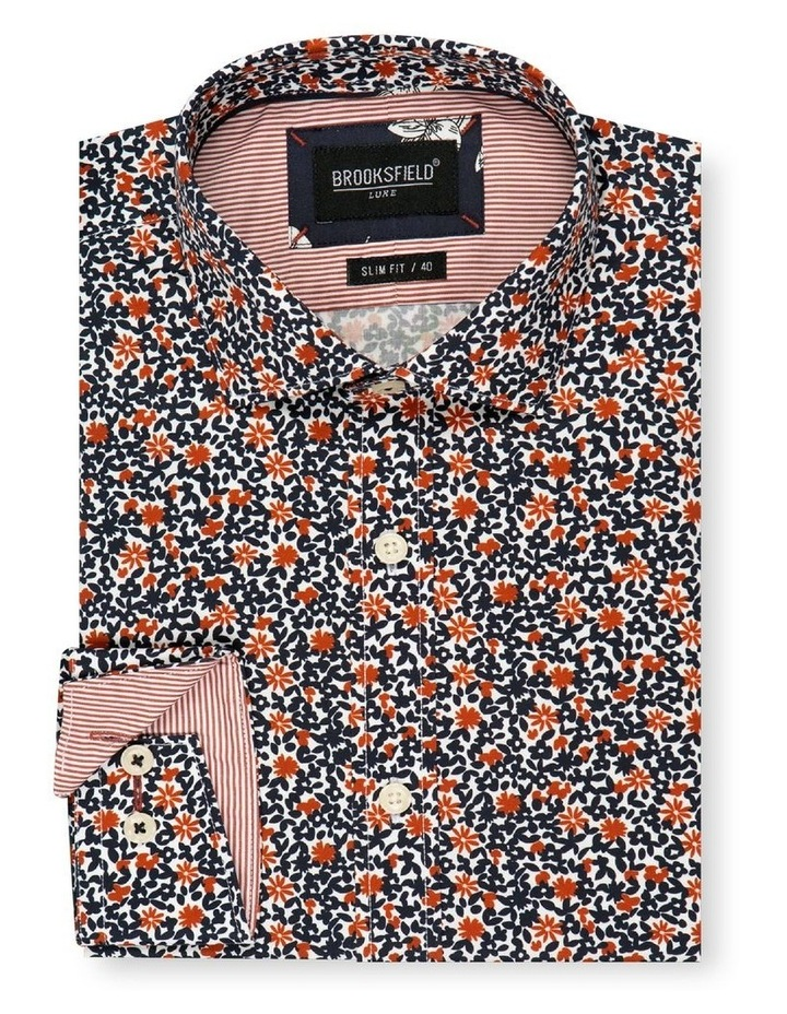 Floral Print Slim Fit Dress Shirt image 4