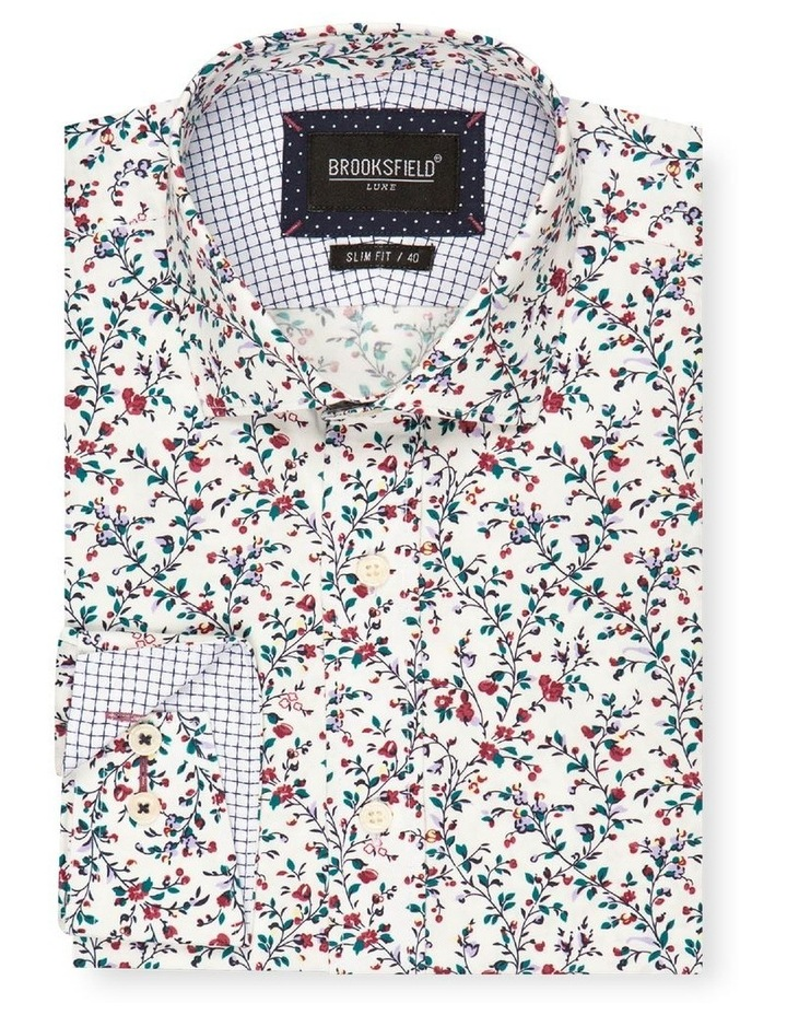 Floral Print Slim Fit Dress Shirt image 4