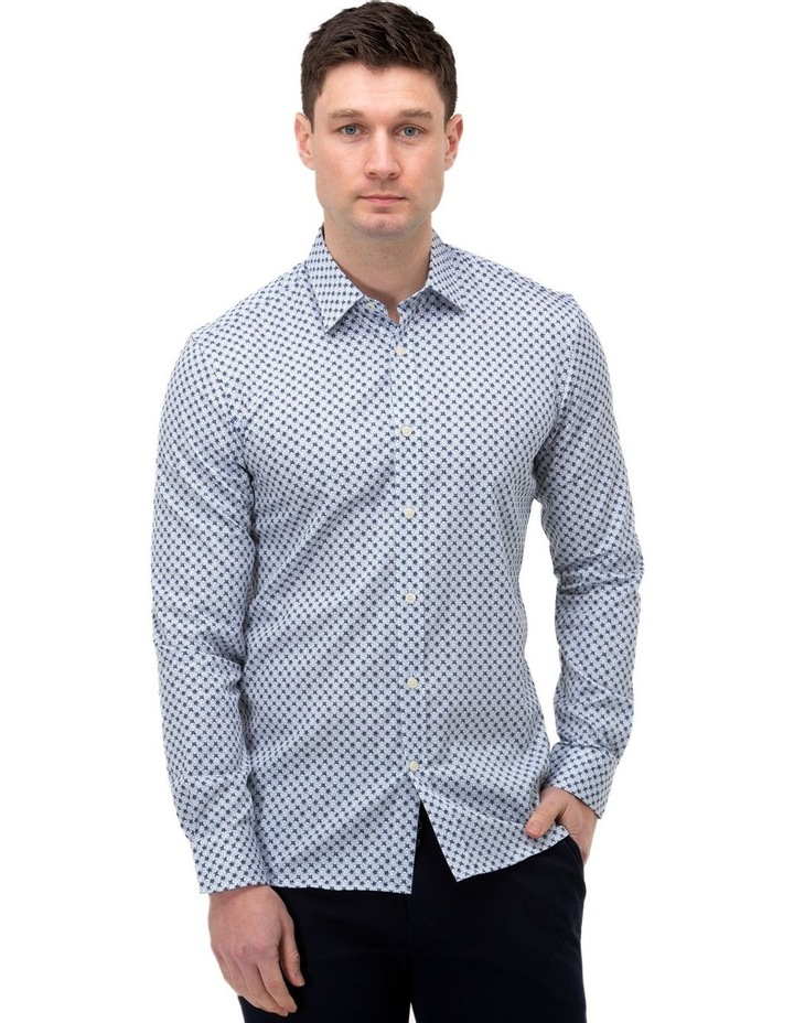 Flower Print Slim Fit Dress Shirt image 1
