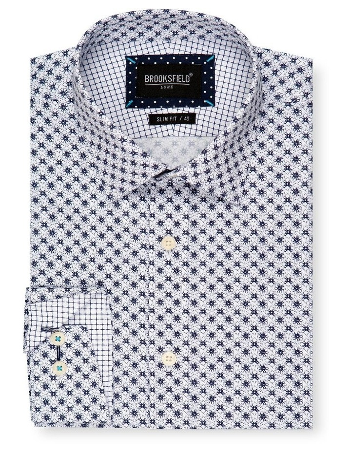 Flower Print Slim Fit Dress Shirt image 4