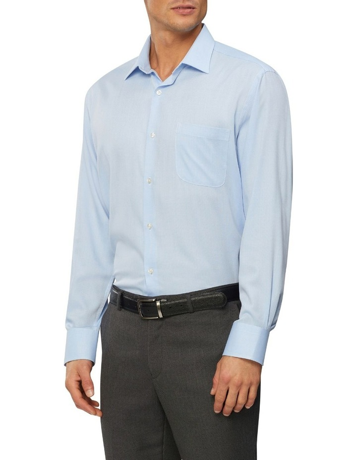 Textured Wash-N-Wear Business Shirt image 1