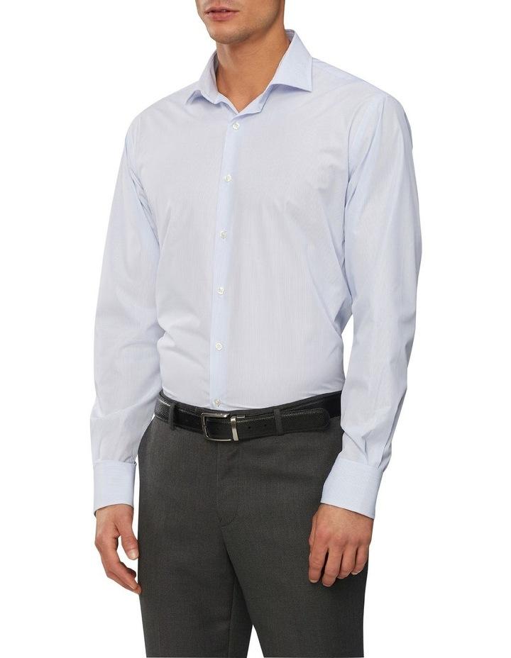 Wash'N'Wear Stripe Euro Business Shirt image 1