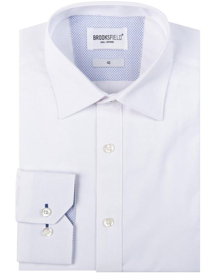 Textured Plain Regular Fit Business Shirt image 4