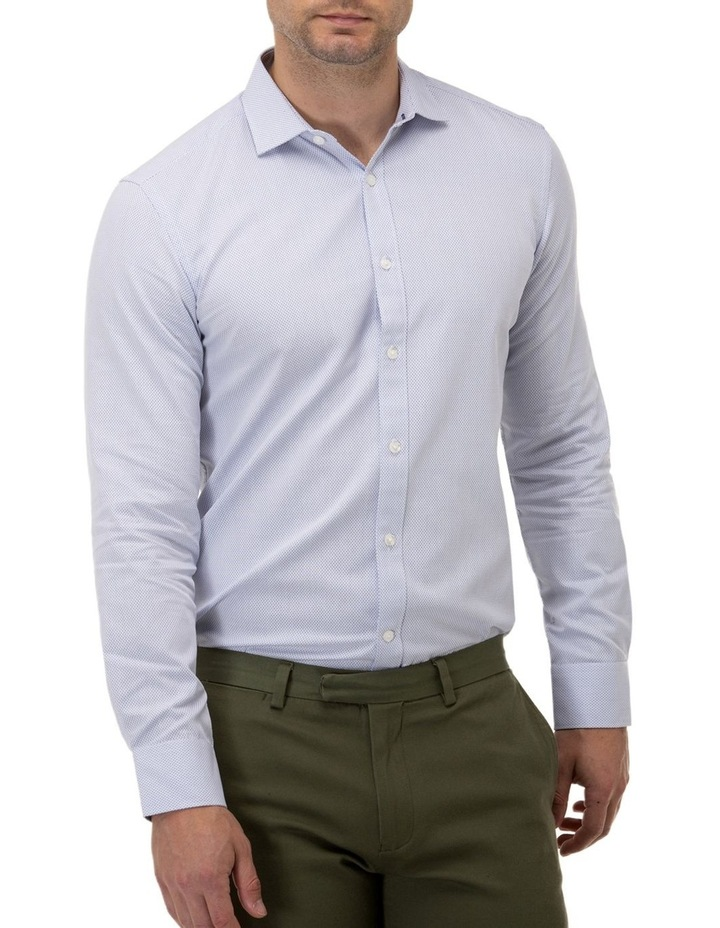 Textured Dot Regular Fit Business Shirt image 1