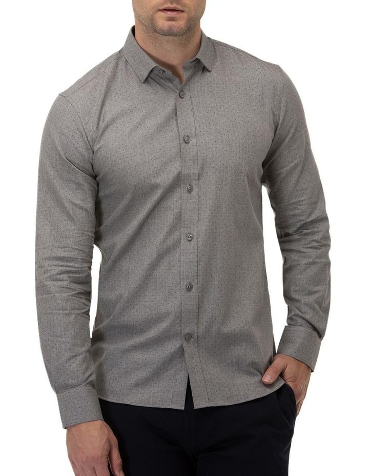 Dot Print Slim Fit Dress Shirt image 1