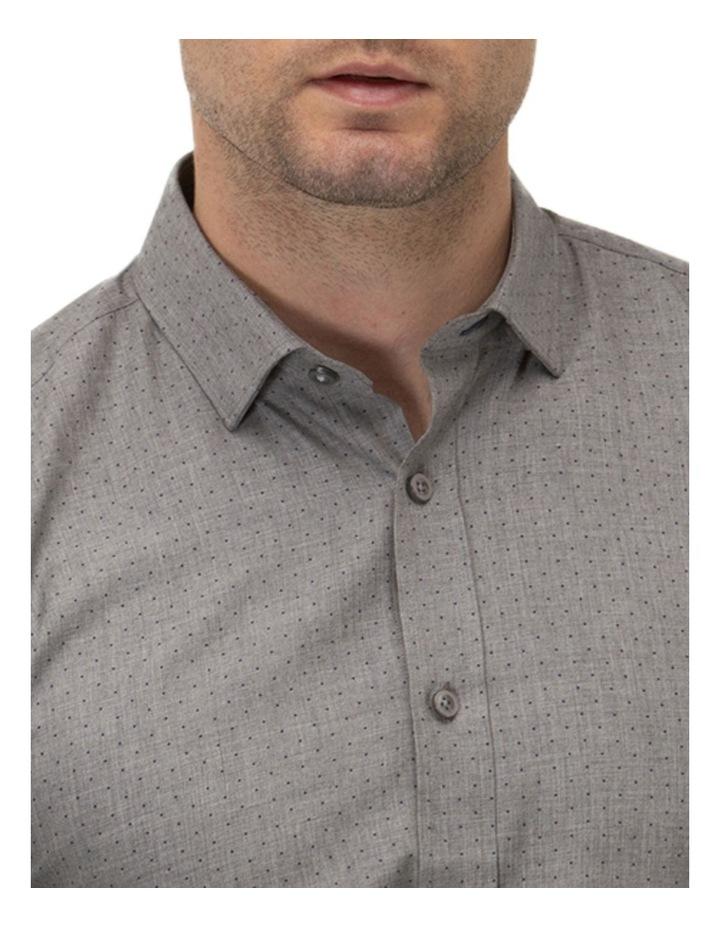Dot Print Slim Fit Dress Shirt image 2