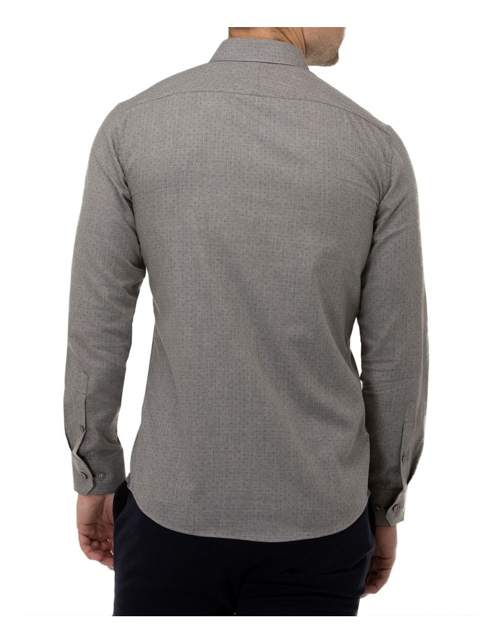 Dot Print Slim Fit Dress Shirt image 3