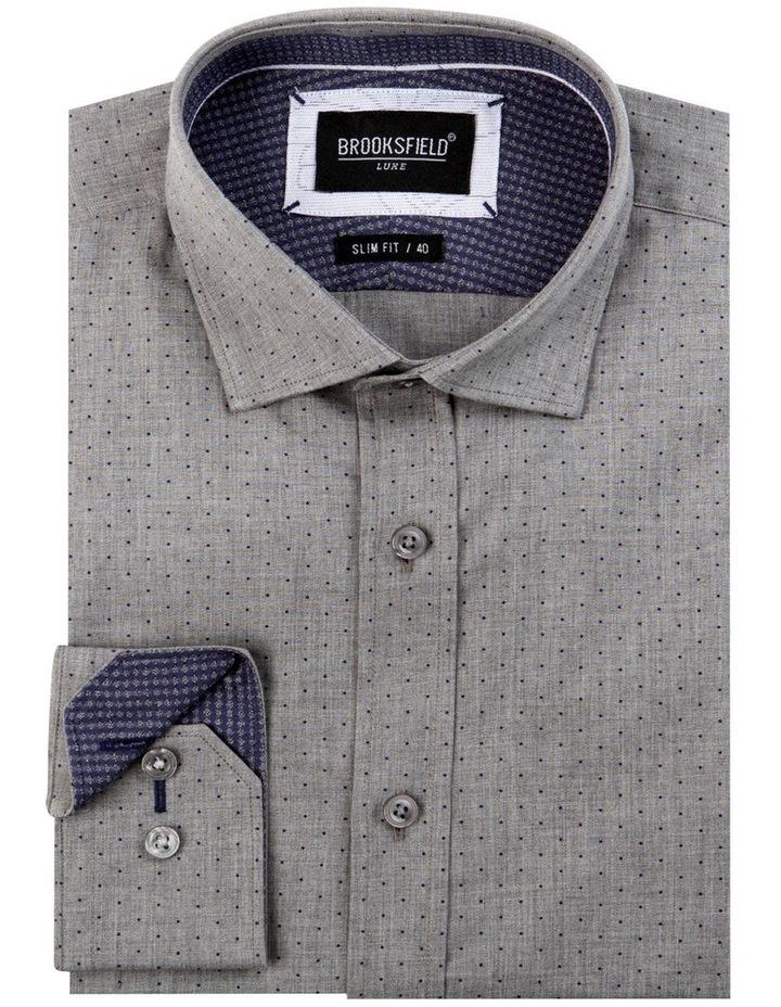Dot Print Slim Fit Dress Shirt image 4
