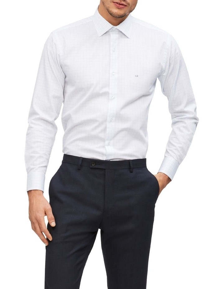 Slim 2 Colour Dobby Check Long Sleeve Shirt image 1
