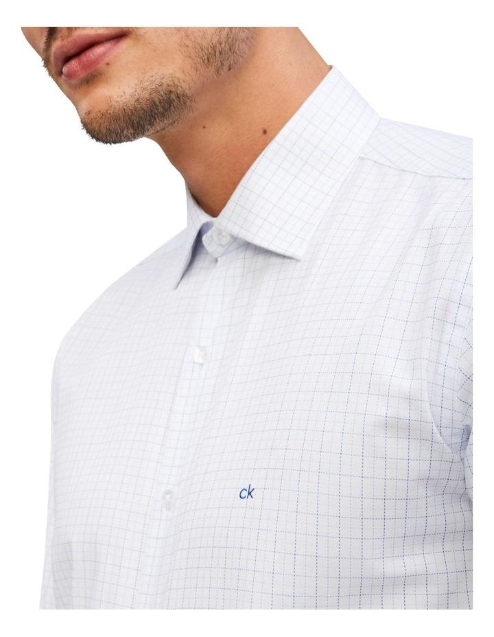 Slim 2 Colour Dobby Check Long Sleeve Shirt image 2