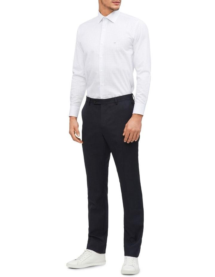 Slim 2 Colour Dobby Check Long Sleeve Shirt image 3