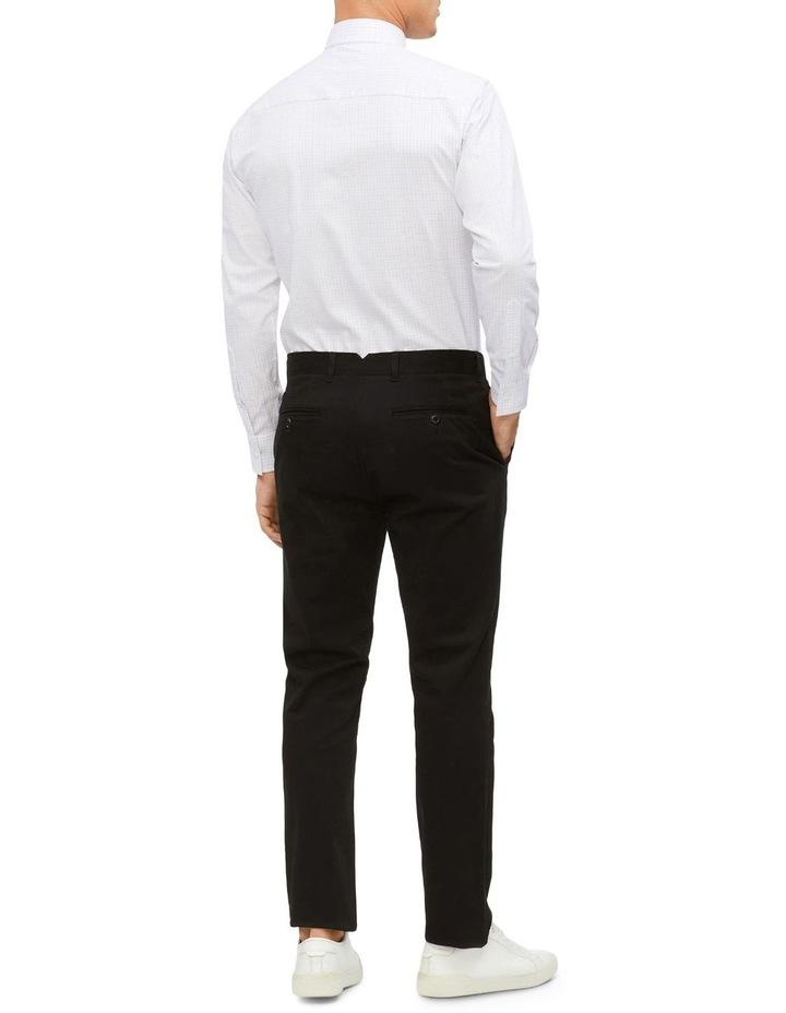 Slim 2 Colour Dobby Check Long Sleeve Shirt image 4