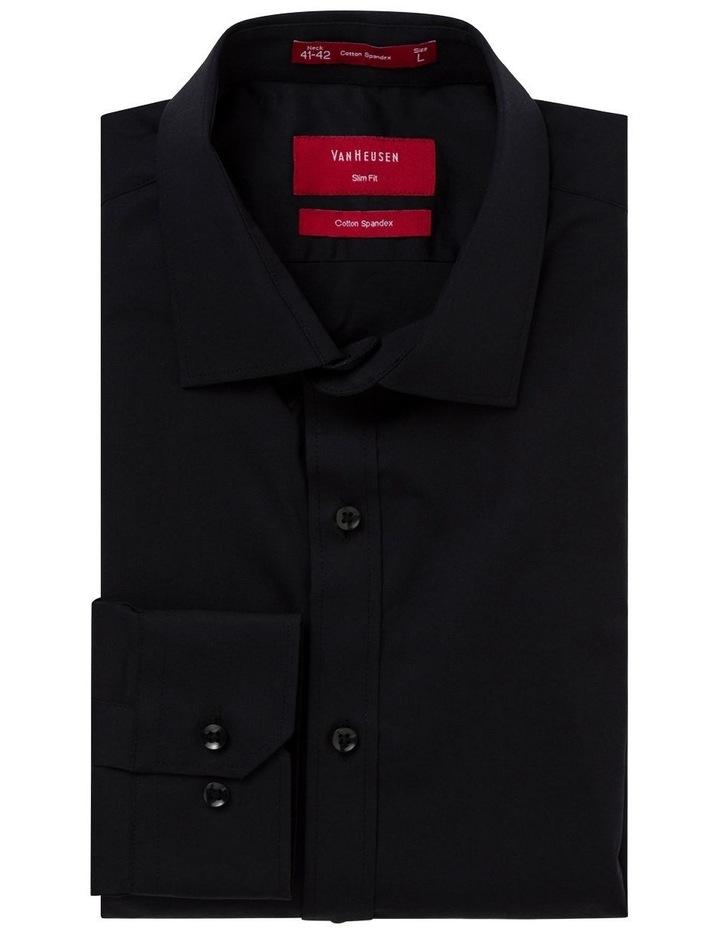Black Poplin Stretch Business Shirt image 2