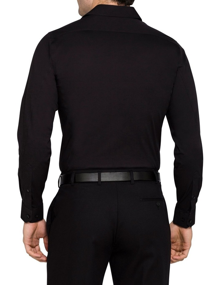 Black Poplin Stretch Business Shirt image 5