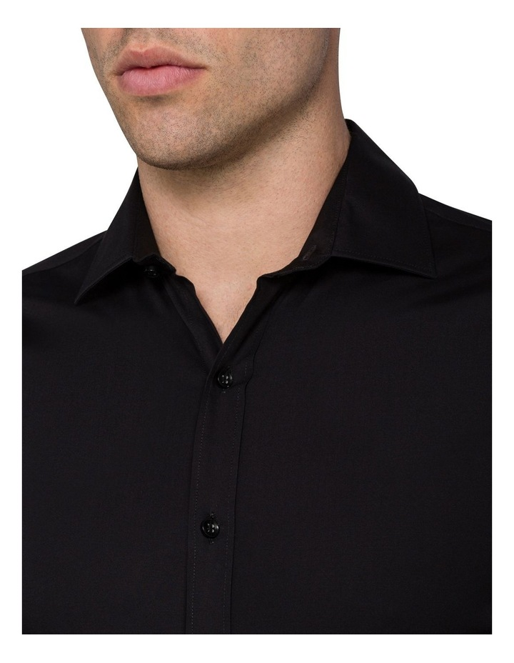 Black Poplin Stretch Business Shirt image 6