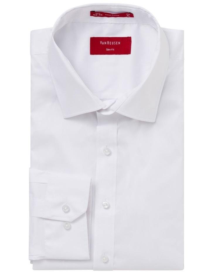 Slim Fit White Business Shirt image 3