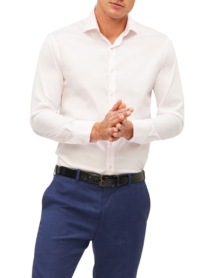 Plain Cotton Stretch Business Shirt image 1