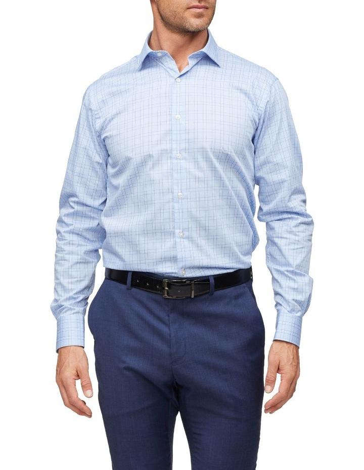 Euro Tailored Fit Shirt Blue Plaid image 1