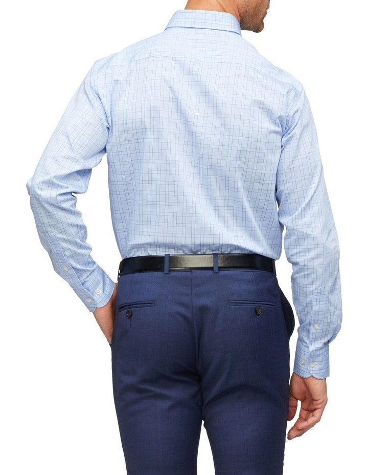 Euro Tailored Fit Shirt Blue Plaid image 2