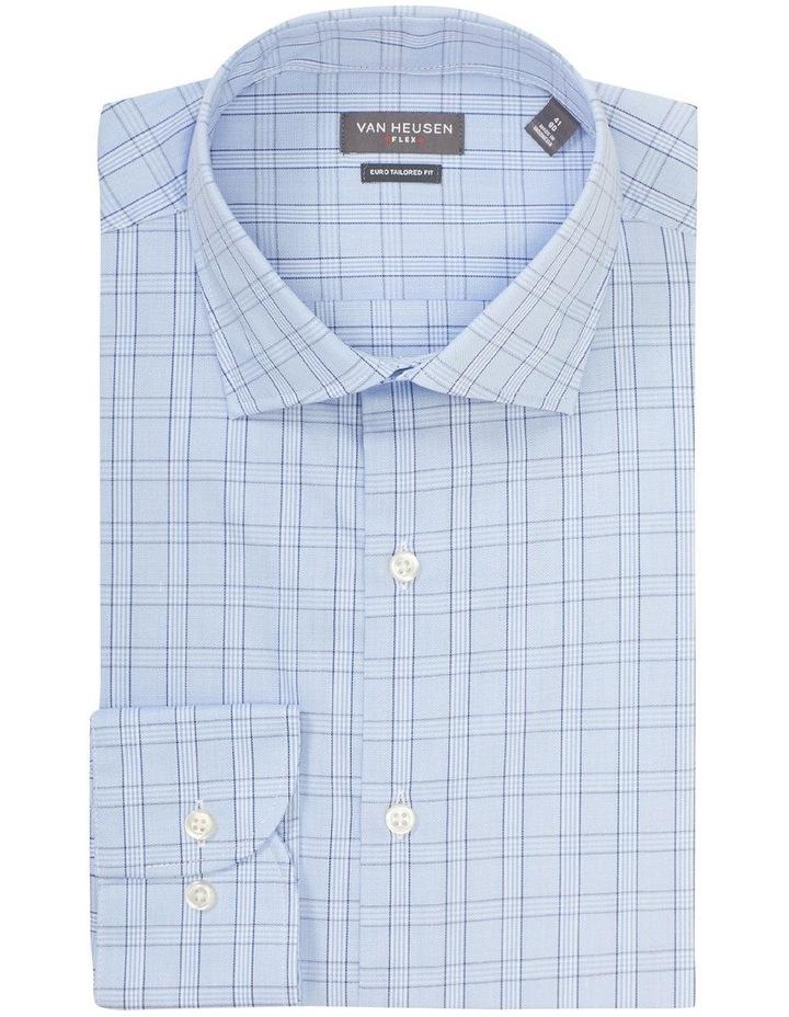 Euro Tailored Fit Shirt Blue Plaid image 3