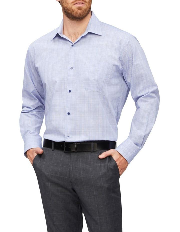 Classic Fine Check Shirt Blue image 1