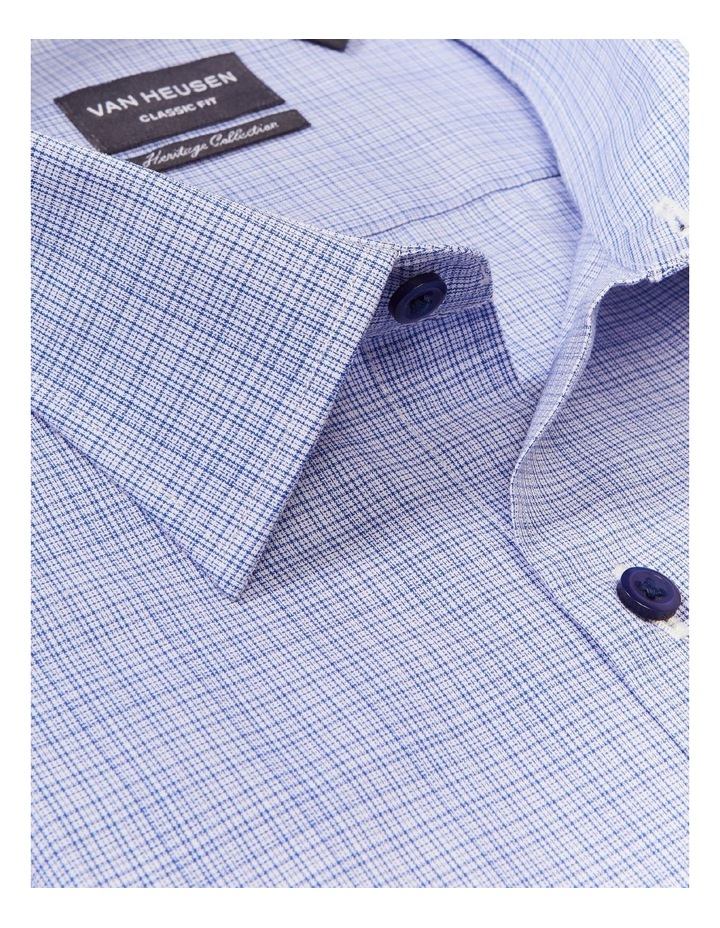 Classic Fine Check Shirt Blue image 2