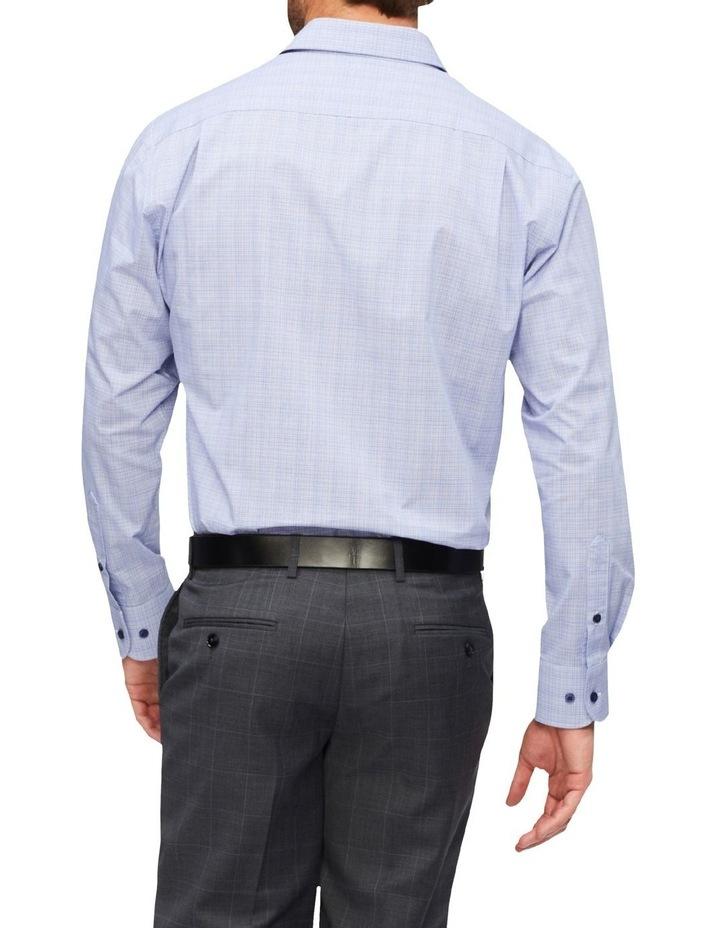 Classic Fine Check Shirt Blue image 3