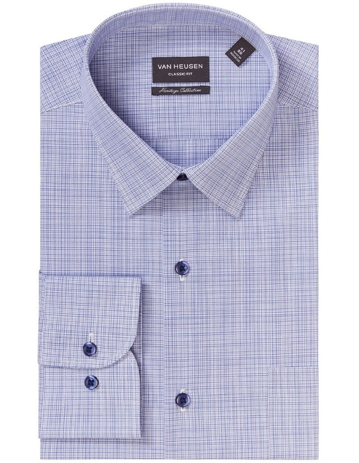 Classic Fine Check Shirt Blue image 4