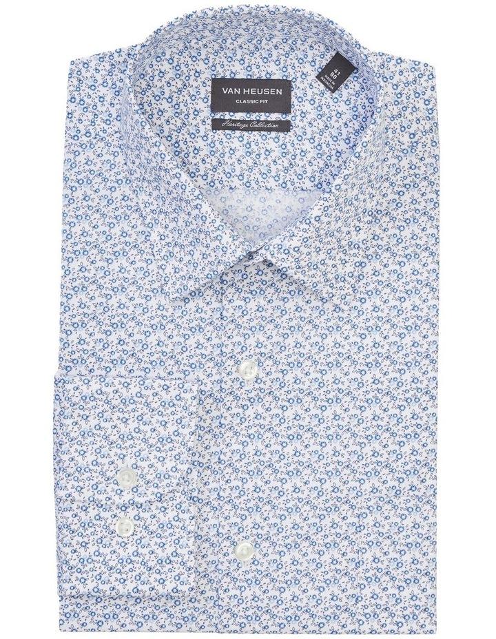 Classic Flower Print Shirt Blue image 1
