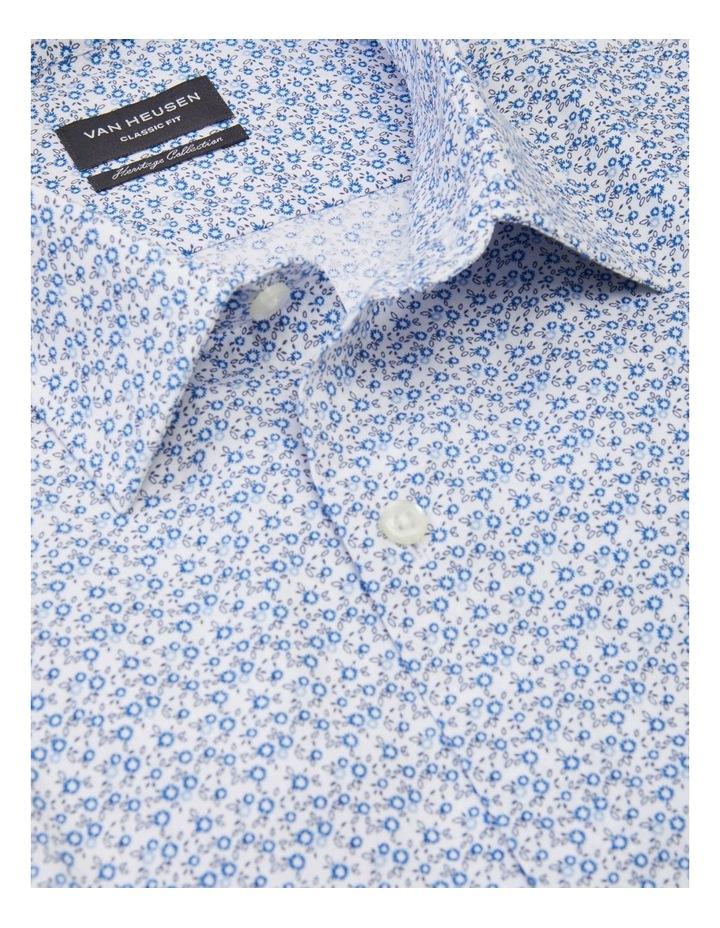 Classic Flower Print Shirt Blue image 2