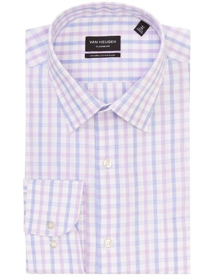Classic Two Colour Mid Check Shirt Purple image 1